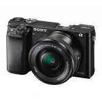 Sony Alpha A6000 Mirrorless Camera - Left Side View - Black