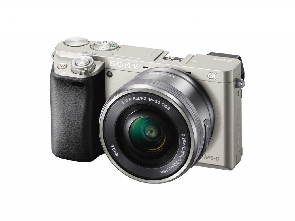 Sony Alpha A6000 Mirrorless Camera - Above Left View - Silver