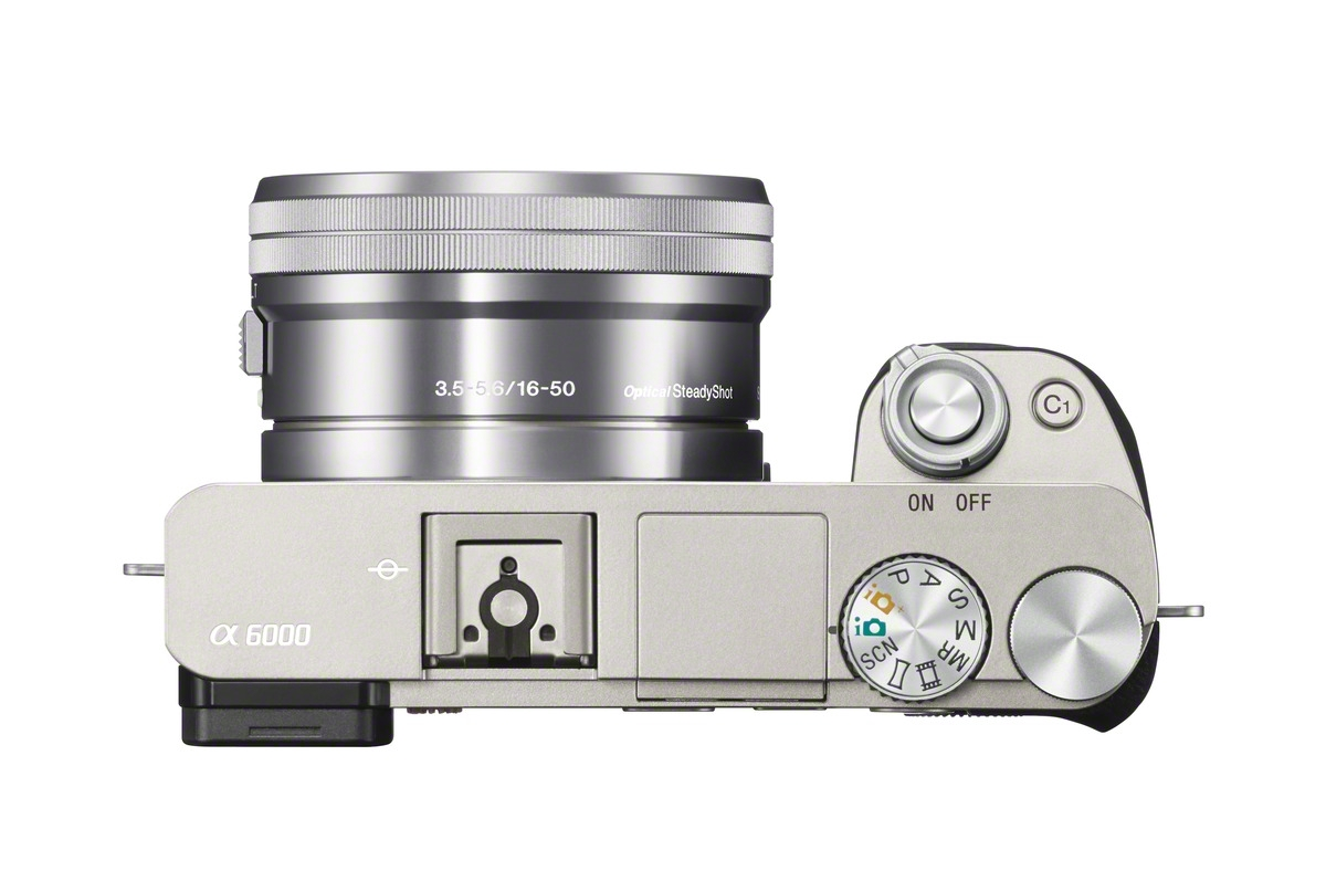 Sony Alpha A6000 Mirrorless Camera - Top View