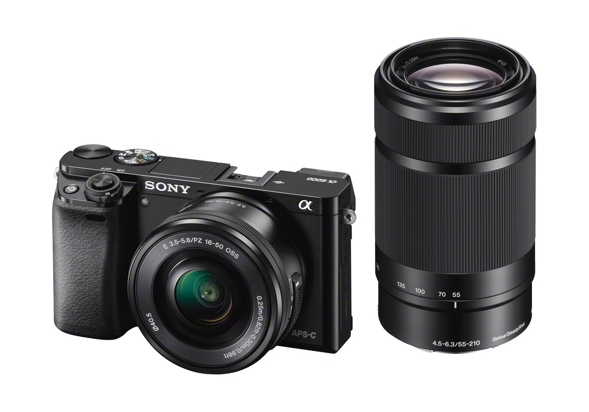 Sony Alpha A6000 With 16-50mm Power Zoom & 55-210mm Lens