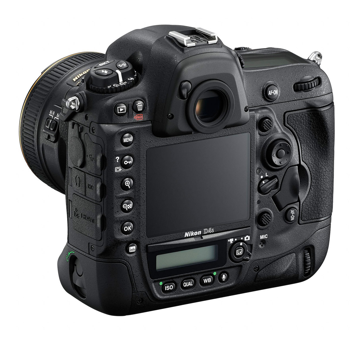Nikon D4S - Left Rear View