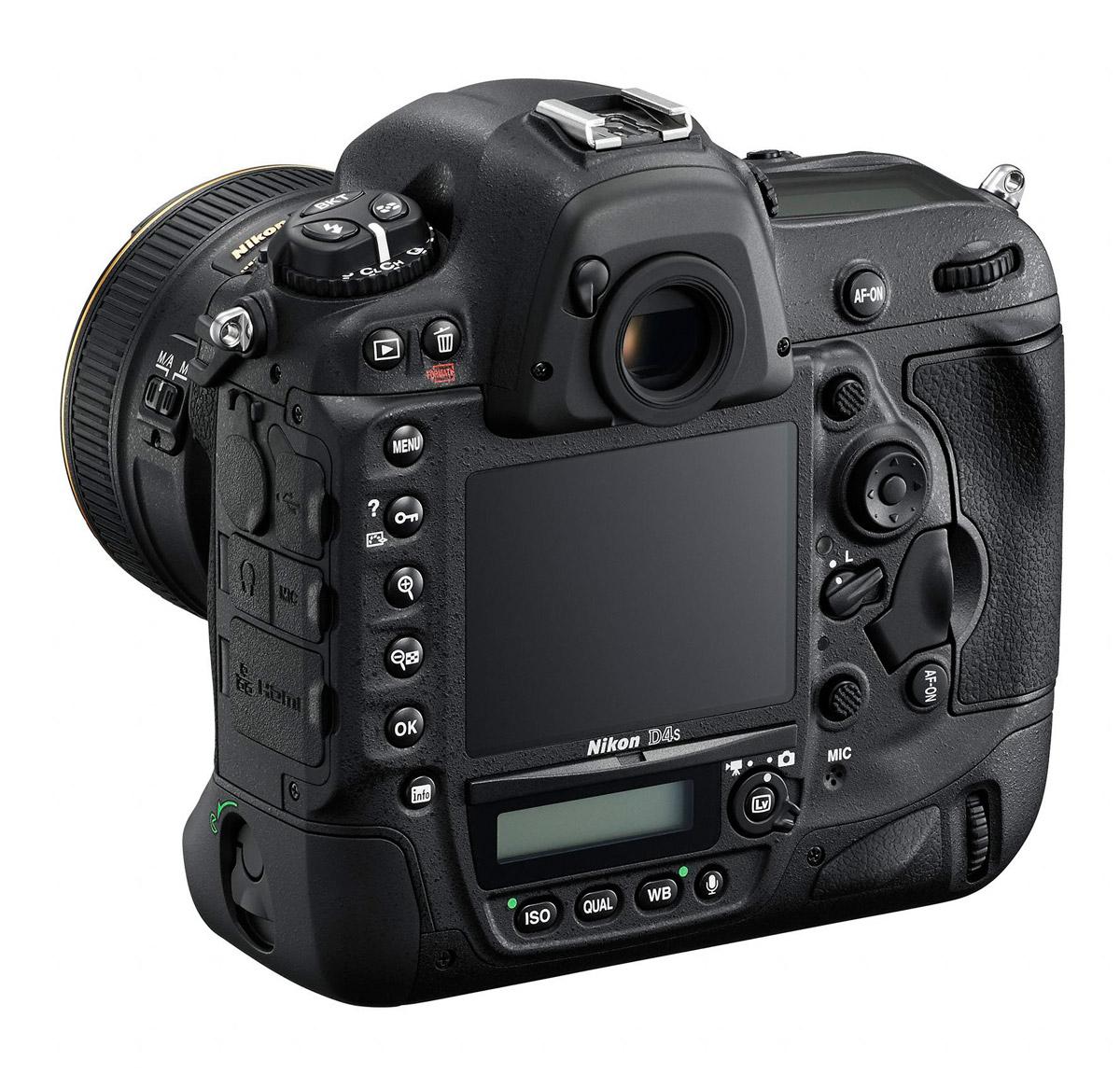 Nikon D4S - Left Rear View