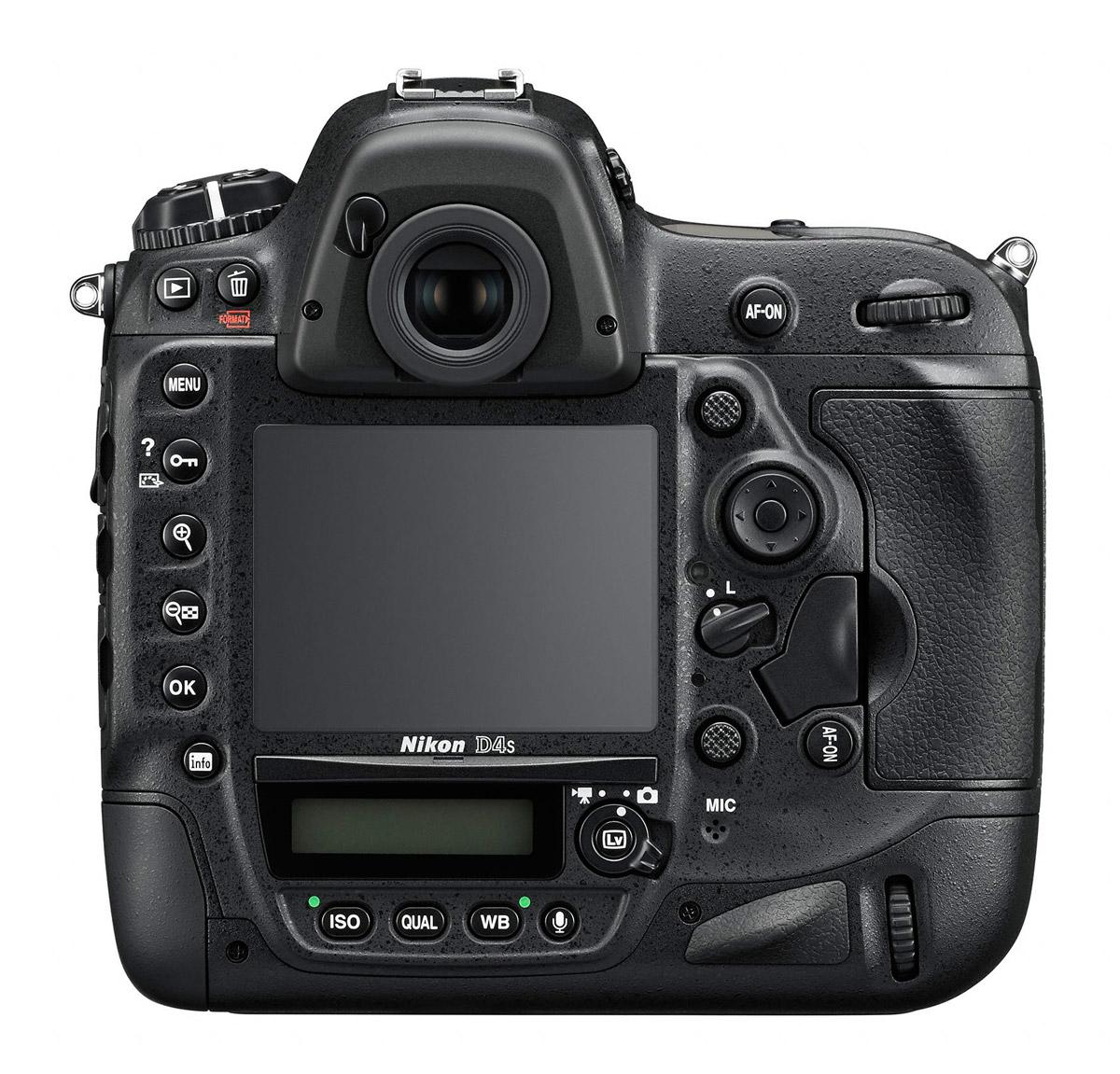 Nikon D4S - Rear View