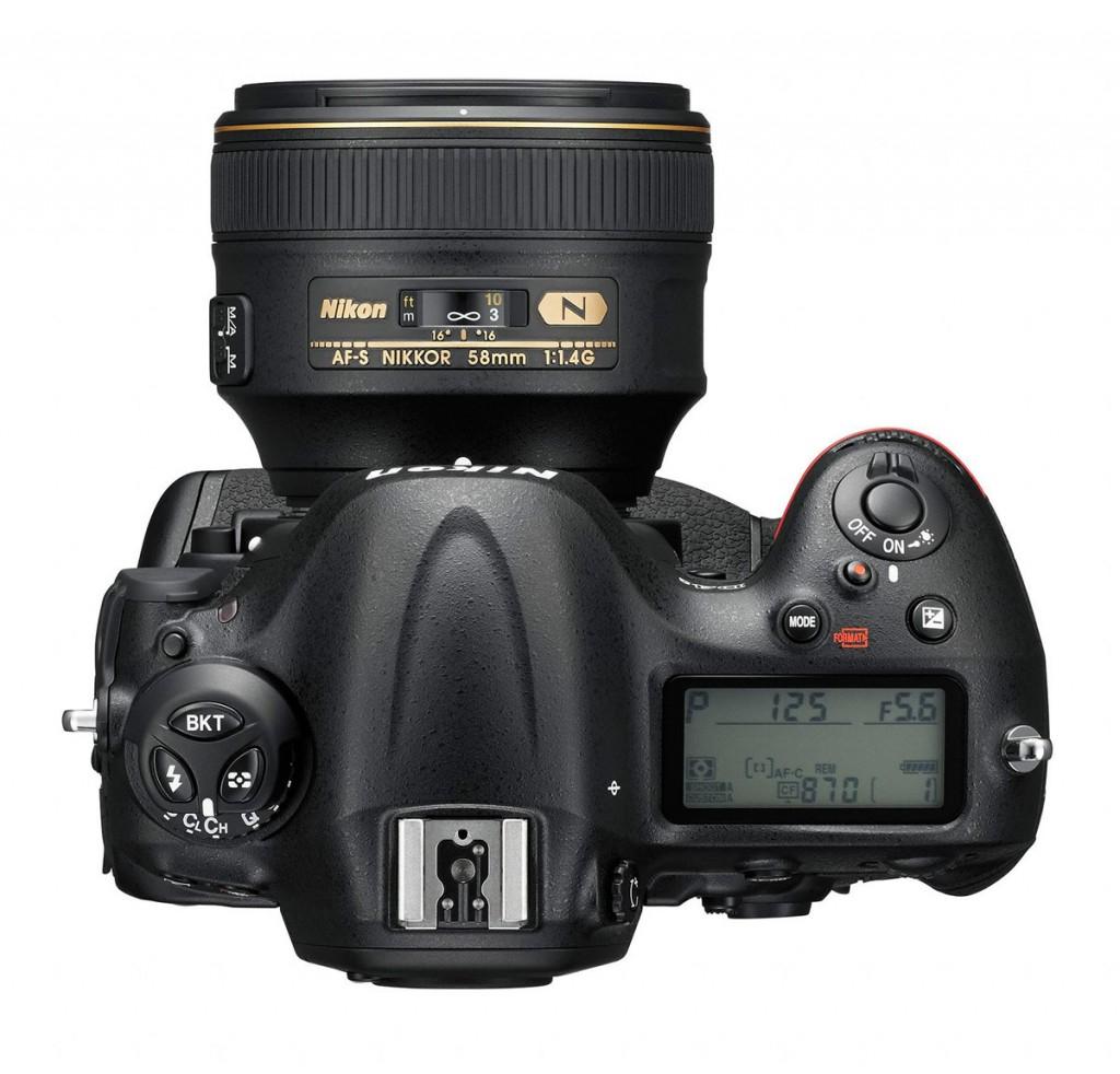Nikon D4S Flagship DSLR - Top View