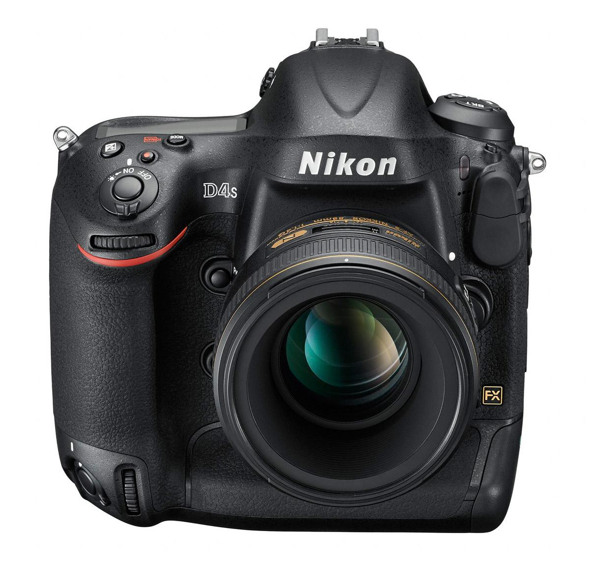 Nikon D4S - Upper Front View