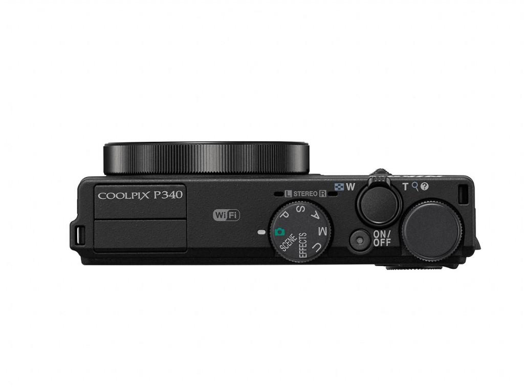 Nikon Coolpix P340 - Top View
