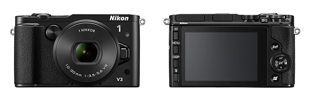 Nikon 1 V3 Flagship Mirrorless Camera - Front & Back