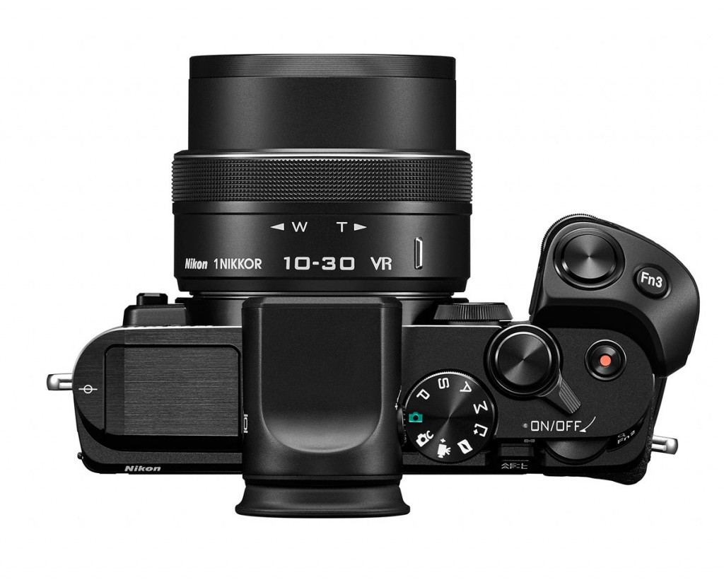 Nikon 1 V3 - Top View With New 10-30mm Kit Lens & Grip